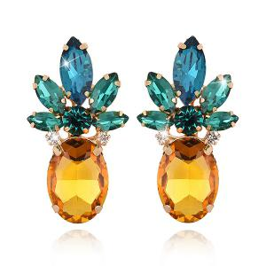 Faux Crystal Pineapple Shape Earrings