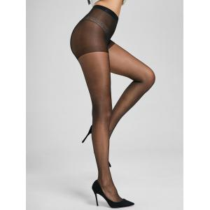 Slimming Sheer Pantyhose - BLACK ONE SIZE