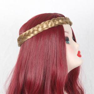 Two Plait Braids Headband Hair Extension - Brown And Golden