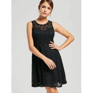 Lace Sleeveless Short Party Skater Dress -