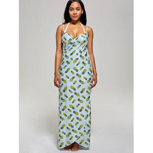 Pineapple Cover Up Wrap Dress -