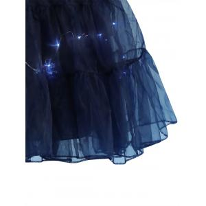 Flounce Light Up Bubble Cosplay Skirt - CERULEAN M