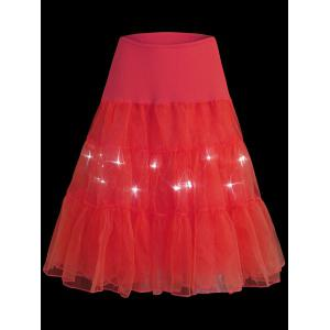 Flounce Light Up Bubble Cosplay Jupe - Rouge XL