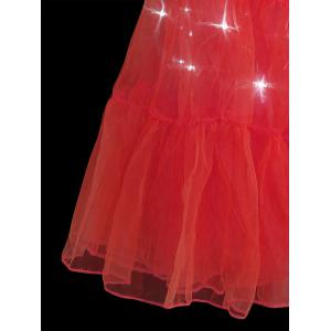 Flounce Light Up Bubble Cosplay Jupe - Rouge M