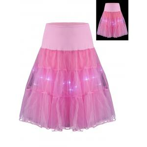 Flounce Light Up Bubble Cosplay Jupe - Rose Clair M