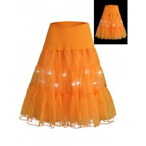 Flounce Light Up Bubble Cosplay Jupe - Orange M