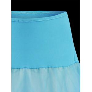 Flounce Light Up Bubble Cosplay Skirt - LIGHT BLUE L