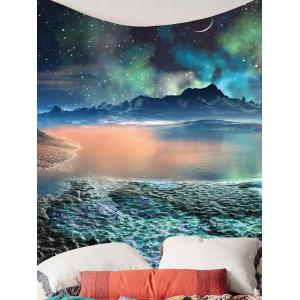 Lune Star Lake Mountain Wall Hanging Tapestry - Coloré