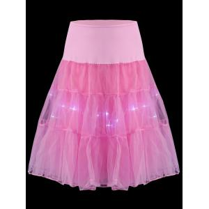 Flounce Light Up Bubble Cosplay Jupe - Rose Clair XL
