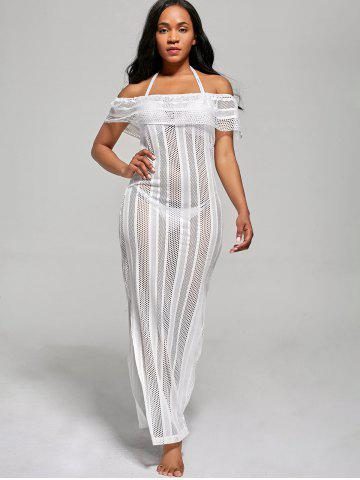 Affordable Off The Shoulder Maxi Cover Up Dress - XL WHITE Mobile