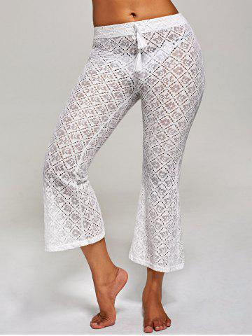 Discount Crochet Wide Leg Boho Beach Pants