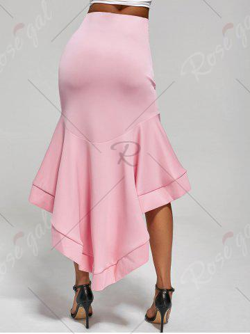 Sale Ruffle Trim High Low Skirt - S PINK Mobile