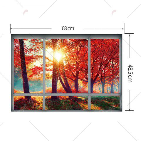 Chic Home Decoration Autumn Scenery 3D Wall Sticker - 48.5*68CM JACINTH Mobile