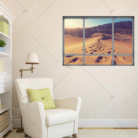 Chic Removable Vinyl Desert Landscape 3D Wall Sticker - 48.5*68CM BROWN Mobile