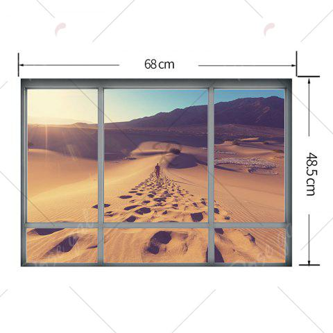 Outfits Removable Vinyl Desert Landscape 3D Wall Sticker - 48.5*68CM BROWN Mobile