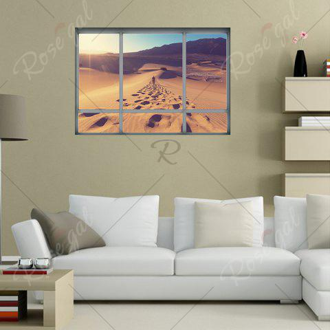 Unique Removable Vinyl Desert Landscape 3D Wall Sticker - 48.5*68CM BROWN Mobile
