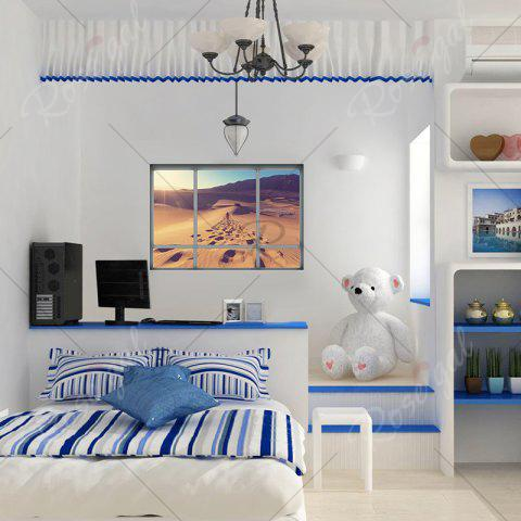 Latest Removable Vinyl Desert Landscape 3D Wall Sticker - 48.5*68CM BROWN Mobile
