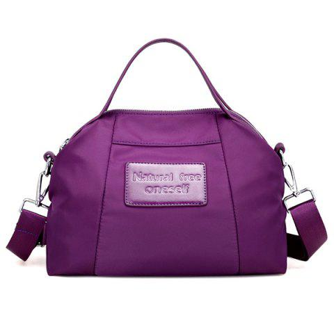 Buy Nylon Top Handle Crossbody Bag - PURPLE  Mobile