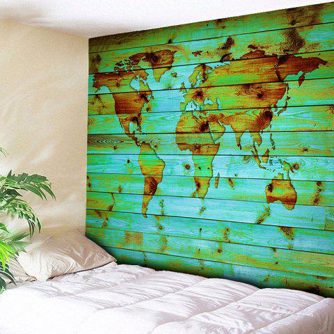 World Map Wall Hanging green w51 inch * l59 inch wall hanging world map printed tapestry