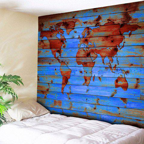 Lake blue w51 inch l59 inch wall hanging world map printed outfit wall hanging world map printed tapestry gumiabroncs Image collections
