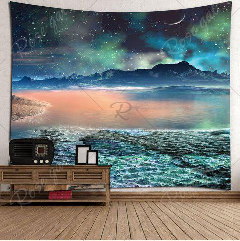 Outfits Moon Star Lake Mountain Wall Hanging Tapestry - W79 INCH * L59 INCH COLORFUL Mobile