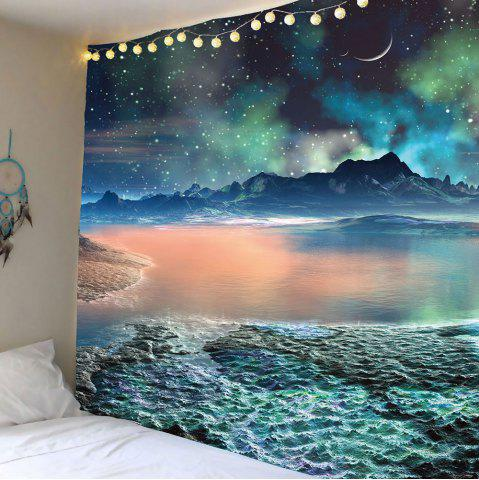 Latest Moon Star Lake Mountain Wall Hanging Tapestry - W79 INCH * L59 INCH COLORFUL Mobile