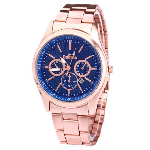 Shops Alloy Strap Date Number Quartz Watch BLUE