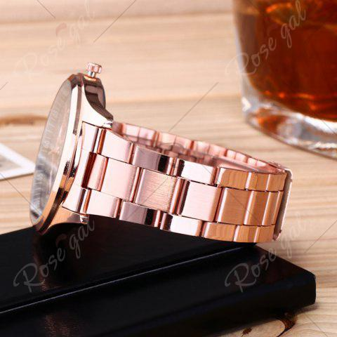 Fashion Alloy Strap Date Number Quartz Watch - ROSE GOLD  Mobile