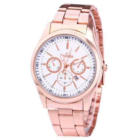 Hot Alloy Strap Date Number Quartz Watch