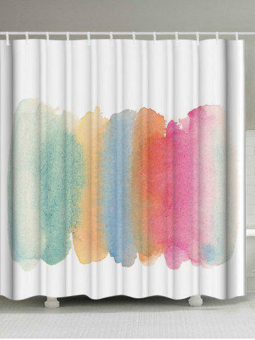 Watercolor Water Resistant Shower Curtain - White - W71 Inch * L79 Inch