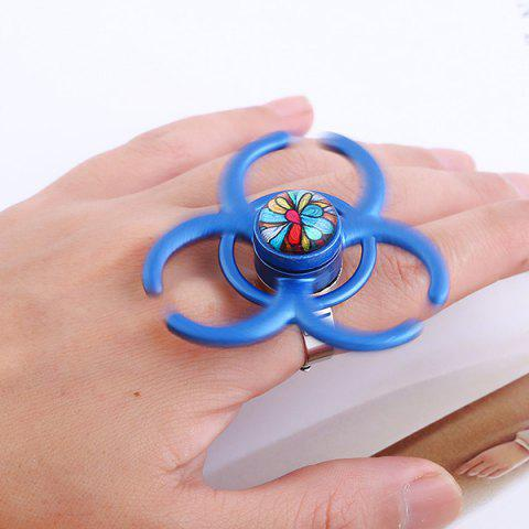 Outfits Round Hand EDC Fidget Spinner Ring BLUE