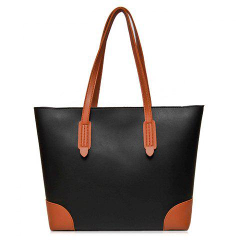 Hot Faux Leather Shopper Bag with Clutch Bag
