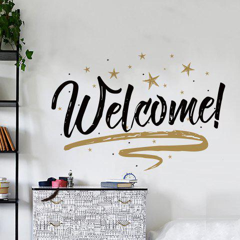 Sale Welcome Letter Shop Door Removable Wall Sticker BLACK 57*38CM