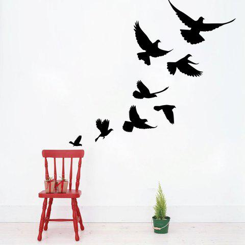 Outfits Bevy Birds Home Decor Vinyl Wall Sticker BLACK 57*52CM