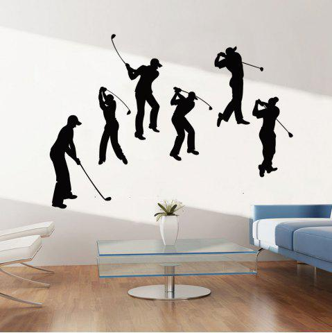 Unique Golf Sport Removable Bedroom Wall Sticker - 60*91CM BLACK Mobile