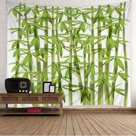 Trendy Home Decor Bamboo Print Wall Hanging Tapestry - W59 INCH * L51 INCH GREEN Mobile