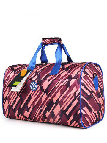 Nylon Print Gym Bag Bordeaux