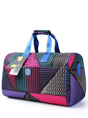 Affordable Nylon Print Gym Bag COLORMIX