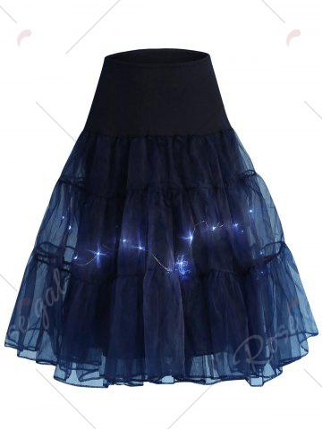 Shop Flounce Light Up Bubble Cosplay Skirt - CERULEAN L Mobile