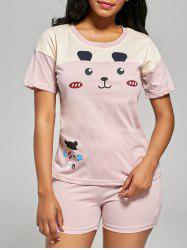 Cotton Bear Print Pajamas Set