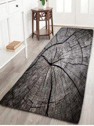 Flannel Antislip Growth Ring Pattern Bath Rug - Wood - W16 Inch * L47 Inch