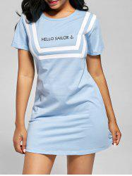 Short Sleeve T-shirt Shift Sleep Dress