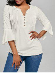 Button Up Ruched Top