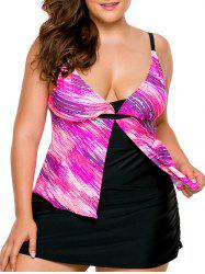 Plus Size Skirted Tankini Set