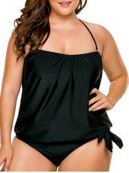 Boyshorts Plus Size Blouson Tankini Set