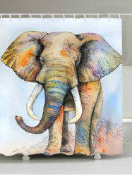 Elephant Waterproof Fabric Shower Curtain