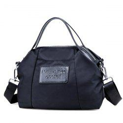Nylon Top Handle Crossbody Bag - BLACK