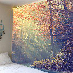 Home Decor Forest Maple Tree Leaves Wall Tapestry - COLORFUL