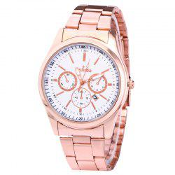 Alloy Strap Date Number Quartz Watch