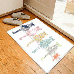 Cartoon Cat Pattern Anti-skid Water Absorption Area Rug - W20 Inch * L31.5 Inch